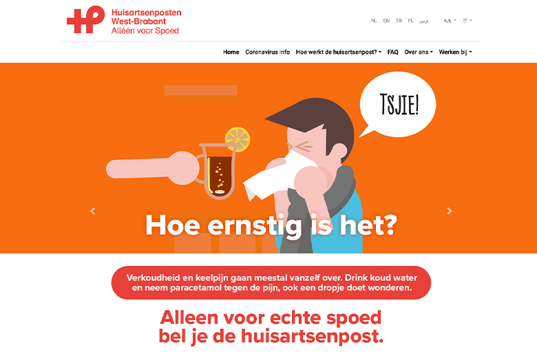 Website Huisartsenpost West-Brabant