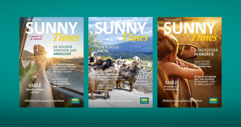 Sunny Cars magazine opmaak omslagen